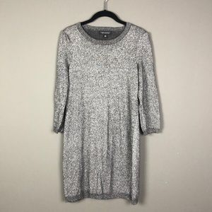 Banana Republic l Gray Metallic Sweater Dress